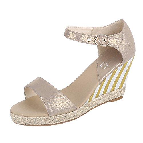 Ital-Design - Pantofole Donna Beige (beige)