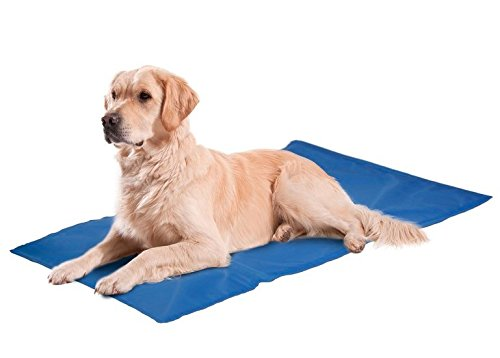 Hunde Kühlmatte Kühlkissen Blau Liegematte Hundematte Matte Hunde Matratze Kühldecke Blau -Kühlung ohne Kühlschrank- - 2