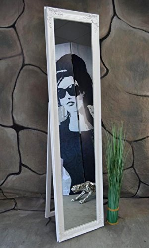 Livitat® Standspiegel Holz antik barock Weiß 160 x 40 cm NO