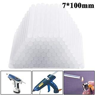 Allright 100 Stück transparent Klebestangen Klebesticks Heißkleber Kleber 7 mm Durchmesser x 100 mm Länge