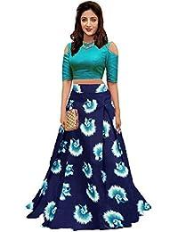 Bandidhari Fashion Banglori Satin Semi-stitched Lehenga Choli