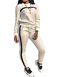 d05ffc83 Chic to Max Womens Tracksuit Set 2PCS Plus Size Sports Outfits Long Sleeve  Top and Bodycon Pants Jogging Suit…