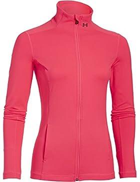 Under Armour Fitness - Trainingsanzug UA Studio Essential Jacket - Chaqueta técnica para mujer, color rosa, talla S