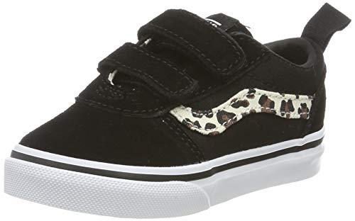 Vans Ward V-Velcro Suede, Zapatillas Unisex bebé, Negro Animal Black/True White V2p, 17 EU