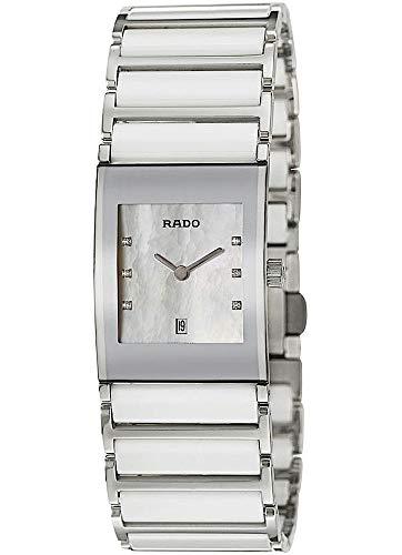 Rado Damen-Armbanduhr Integral Jubile mit Diamanten Datum Analog Quarz R20746901