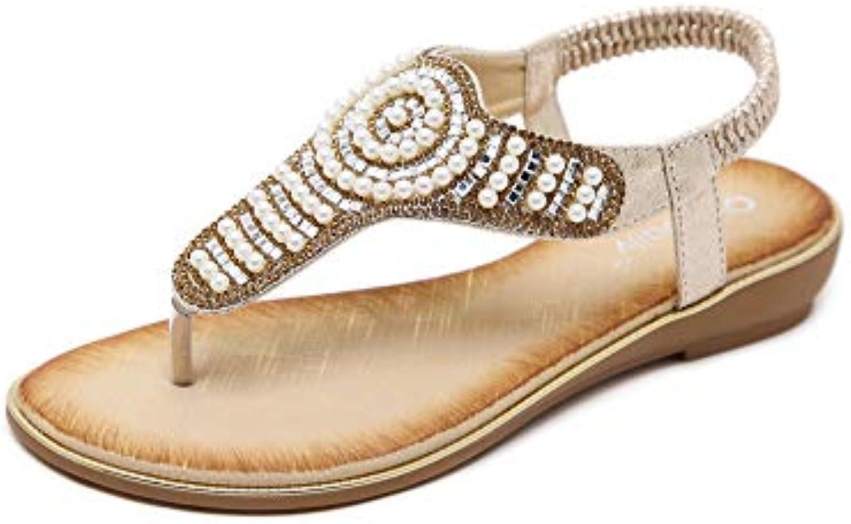 les femmes clip toe faible wedge tongs bohemia tongs roman des tongs bohemia pantoufles confortables post - string des chaussures de plage... f26603