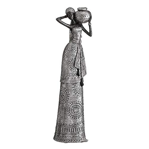 African Figure Ethnic Resin Silver for decoration Arabia - LOLAhome