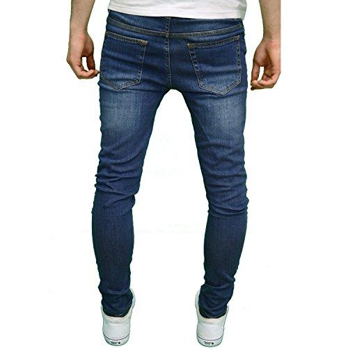 526Jeanswear Herren Jeanshose Schwarz schwarz 71 cm- 107 cm Mid Stonewash