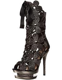 Pleaser Day & Night - zapatos de tacón mujer, Multicolor - Black/Pewter, 39