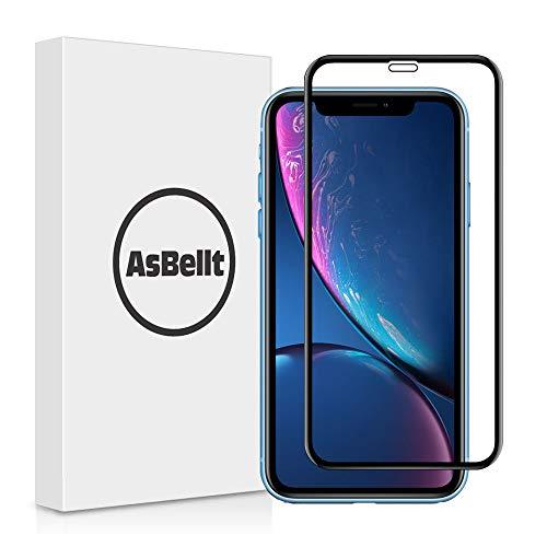 AsBellt Protector Pantalla de iPhone XR (3D Cobertura) (9H Dureza) (Sin burbujas),Cristal Vidrio...