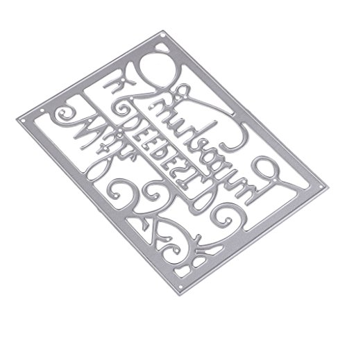 84c628a8b30 Homyl Metal Paper Embossing Cutting Dies   with Deepest Sympathy   English  Art Words