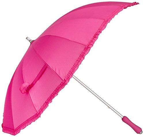 Rob McAlister Stockschirm in Herzform mit Rüschen, hot pink Magenta