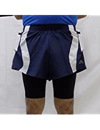 Acetone Solid Men's Running Shorts ( MSH 103 - REFLEX -NAVY)