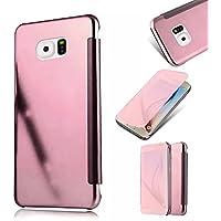 Galaxy S6 Fundas,MingKun Samsung Galaxy S6 Funda de Cuero TPU Carcasa con Tapa y Cartera Cierre Magnético Caso Cover