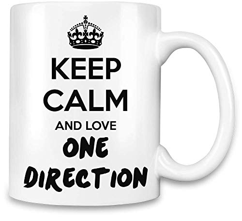 e Direction lieben - Keep Calm and Love One Direction Unique Coffee Mug   11Oz Ceramic Cup  The Best Way to Surprise Everyone On Your Special Day  Custom Mugs by One ()