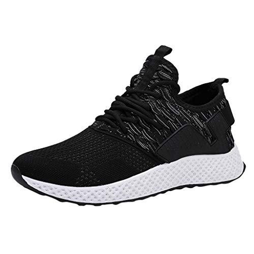 AIni Herren Schuhe,2019 Neuer Heißer Beiläufiges Mode Atmungsaktives Mesh im Freien Bequeme Laufschuhe Turnschuhe Partyschuhe Freizeitschuhe(40,Grau)