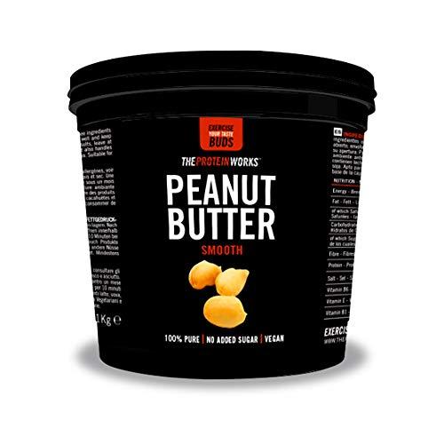 Mantequilla de Cacahuetes Suave 100% Natural | 1 kg | Apto para veganos