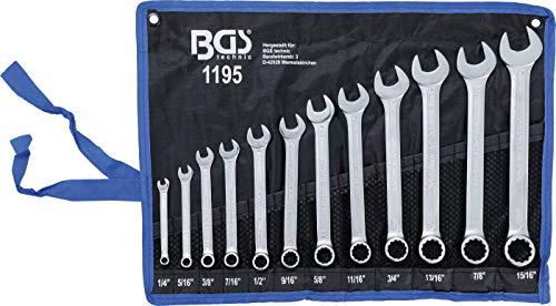 BGS Technic 1195 - Juego de Llaves Combinadas en Pulgadas 1/4 - 15/16