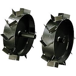 MTD 196-261-678 jeu de roues métalliques, Noir