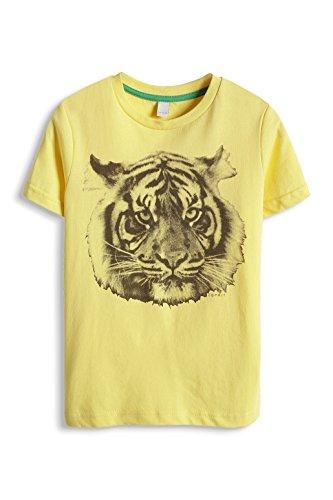 ESPRIT Jungen T-Shirt 065EE8K001, Animalprint, Gr. 128 (Herstellergröße: 128/134), Gelb (AMBER YELLOW 700)