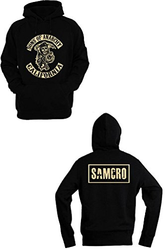 Felpa Shirt Sons Of Anarchy SAMCRO nero M