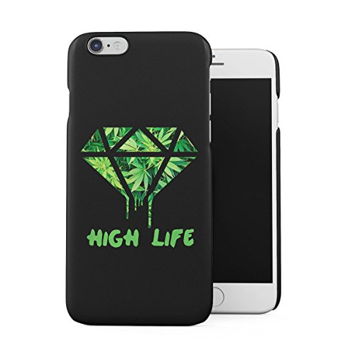 High Life Diamond Cannabis Weed Mary Jane Chill Dünne Handy Schutzhülle Hardcase Aus Hartplastik Hülle für iPhone 6 / iPhone 6S Handyhülle Case Cover