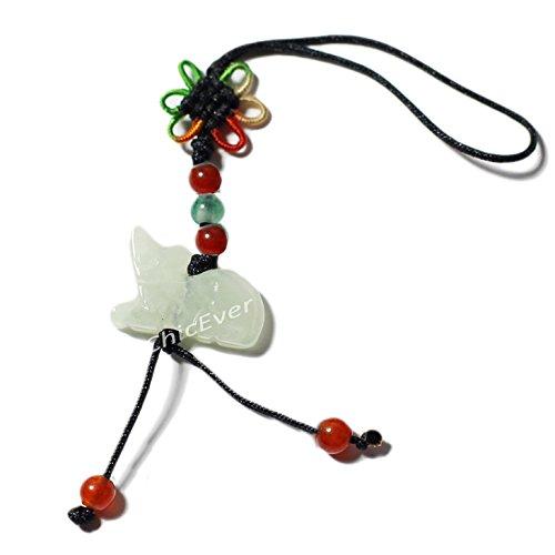 Amuleto de la suerte de Jade, signo del zodiaco chino, rata, llavero, móvil, cartera, 4867
