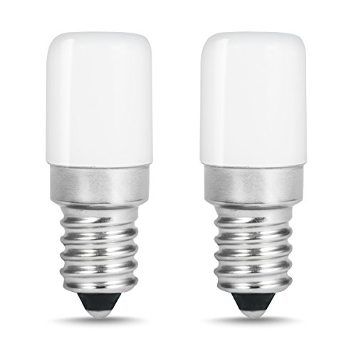 LOHAS LED Kühlschranklampe E14 LED Lampen, 1.5W Ersatz für 15W Halogenlampen, Warmweiß 2700K, 135lm, 360° Abstrahlwinkel, LED Kühlschrankbirne, LED Leuchtmittel, 230V AC, 2er Pack
