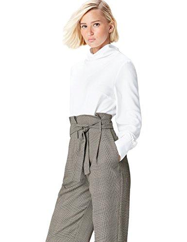 FIND FIND Blusa de Cuello Alto para Mujer, Blusa Mujer, Blanco (White), M