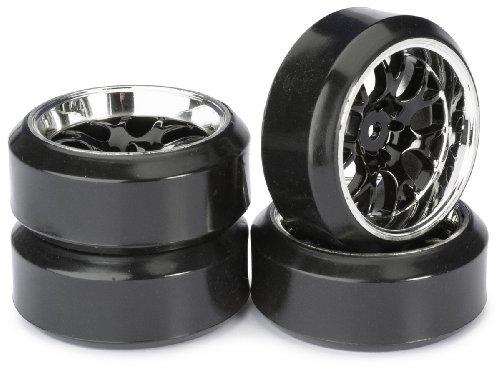 ABSIMA - Wheel Set Drift LP Comb/Profile C Black/Chrome 1 : 10 (4 Pcs) (2510042)