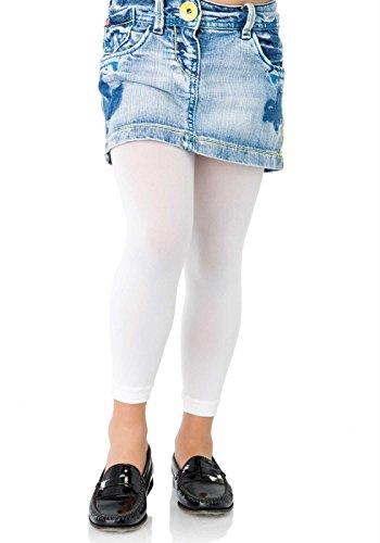 Childrens Footless Tights, Größe:XL;Farbe:Weiß (Weiß Footless Tights)