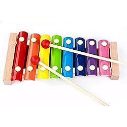 KidsHobby® Bebé Música niños de juguete de madera Mini Glockenspiel Desarrollo Musical juguetes del desarrollo Regalo- 1 PC