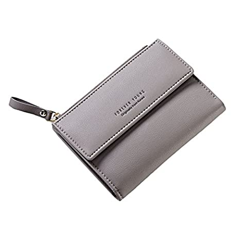 Damen Kurzes Geldbörsen PU Leder Geldbeutel Geldbörse Mappe Reißverschluss Portemonnaie Handtasche
