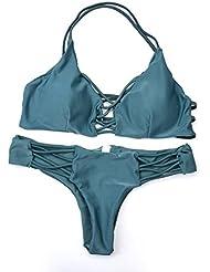 Fastar bikinis para mujer 2017 atractivo busto hueco bikini conjunto traje de baño