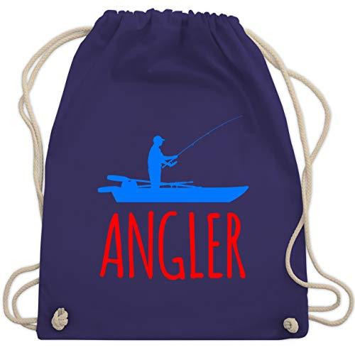 Angeln - Angler Boot - Angelboot - Unisize - Lila - WM110 - Turnbeutel & Gym Bag