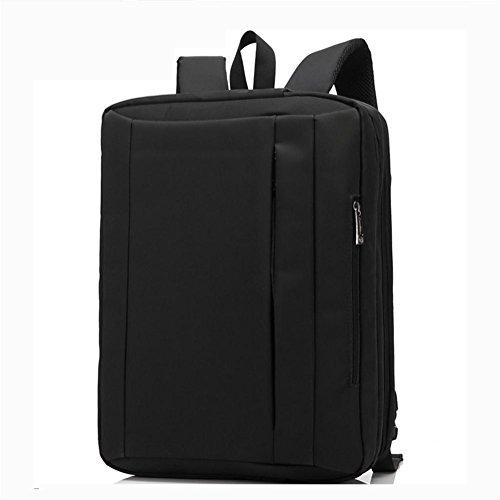 Hanf Messenger Tasche (Vielseitig Laptop Rucksack (17,3 / 15,6 Zoll) Freizeit Faltbar Rucksäcke Schultertasche Messenger-Paket Aktentasche Handtasche Reiserucksack Männer / Damen , black , 17 inch)
