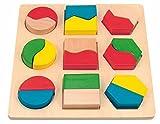Unbekannt Legespiel aus Holz - Formen & Farben Lernen - Puzzle Spiel - ideal für die Motorik / Steckspiel - Holzspielzeug - Lernen Kinder / Babyspielzeug - Greifen üben
