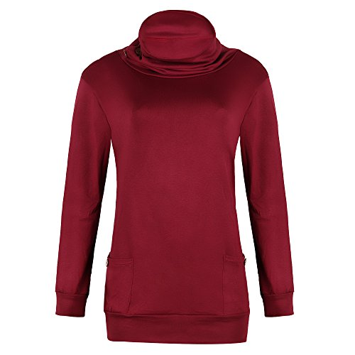 mttroli Frauen Hoodies Sweatshirt Langes Fell polluver Farbe Design Hoody mit Pocket L / Bust 41.73