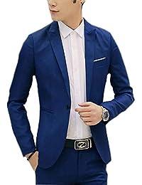 Saoye Fashion Herren Sportsakko Männer Nner Jungel Blazer Jackett Slim Fit  Anzugjacke Business Kleidung Freizeit Smoking 2bbf49f763