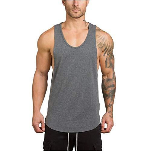 Beonzale Turnhallen für Männer Bodybuilding Fitness Muskel ärmelloses Singlet T-Shirt Top Weste Tank o-Neck Diverse Farben auswählbar saugfähige Weste Valueweight Athletic Vest
