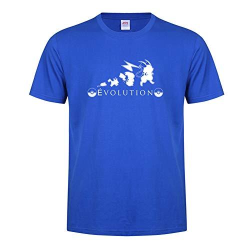 WQWQ Pokemon Kurzarmhemd Pikachu Weihnachten T-Shirt Pokémon Kostüme Männer und Frauen Mode Pika Kurzarm L XL 3XL,B,XXXL