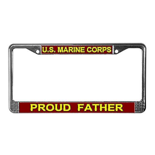 CafePress stolze Vater US-Marines Nummernschild Rahmen Lizenz Rahmen-Standard -
