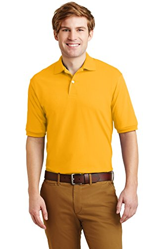 Adult 5.6 oz., SpotShield� Jersey Polo GOLD 3XL (Jerzees Adult Polo Jersey)