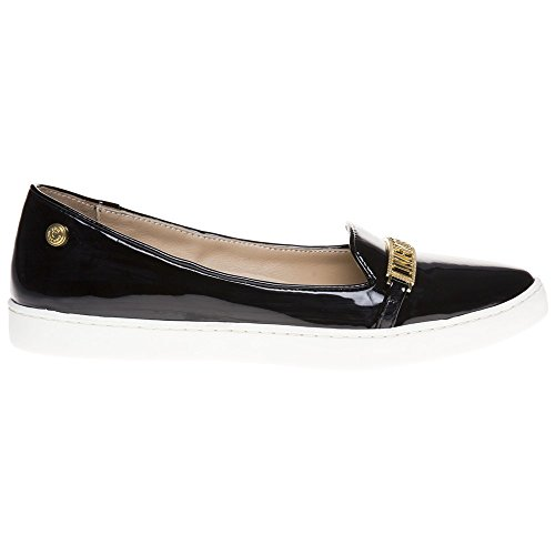 Love Moschino Pointed Logo Slip On Femme Chaussures Noir Noir