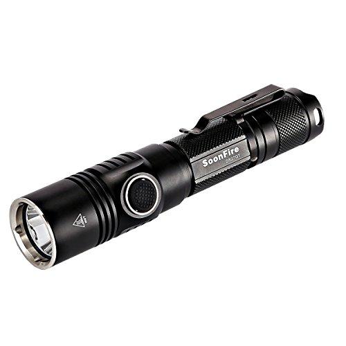 Preisvergleich Produktbild 1050 Lumen Cree XP-L (V3) LED Taktische Taschenlampe mit einer effektiven Reichweite von 337 Metern Soonfire DS27GT USB Aufladbare Wasserdichte Taschenlampe inklusive 3400mAh Akku