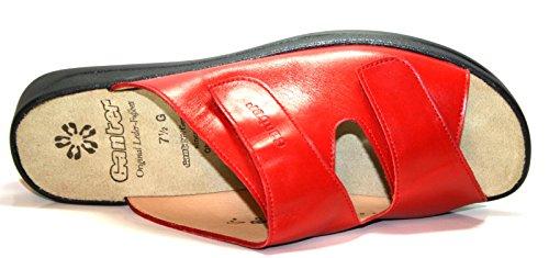 Ganter Monica 202501, Damen Pantoletten, Weite G Rosso
