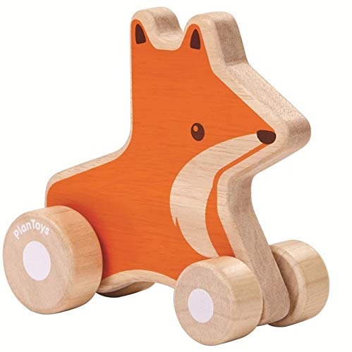 Plan Toys Wooden Wheelie Fox Push-Along Toy, Essential baby toys, toys for every developmental stage, baby toys, must have baby toys, the best toys for babies, gift ideas for babies, Christmas baby gift ideas, gifts for babies