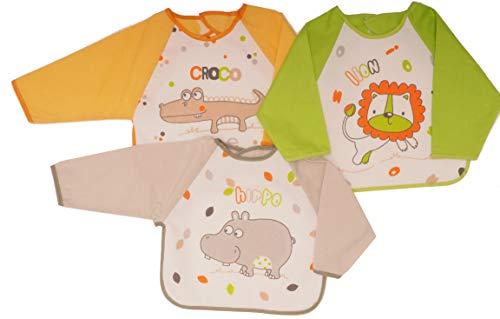 Ti TIN Pack 3 Baberos Estampados Impermeables Bebé