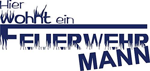 GRAZDesign 720368_57_049 Wandtattoo Flur Eingang Feuerwehrmann Feuerwehr   Wand-Deko für Kinderzimmer/Jungs (119x57cm//049 königsblau)