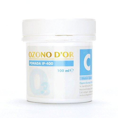 OZONO DOR. Pomada Cicatrizante Natural de Ozono IP-400 (100ml). Pomada para heridas, cicatrices, úlceras, dermatitis, psoriasis leve, quemaduras, varices, estrías y arañas vasculares.
